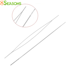 Beading Needles Threading String/Cord Jewelry Tool Silver Tone 5.7cm,5PCs (B31559)8seasons
