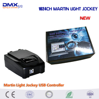 Free Shipping Martin Light Jockey USB 1024 Channels DMX 512 DJ Controller For Stage Disco Nightclub