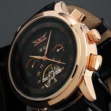 JARAGAR reloj mecánico analógico Tourbillon para hombre, envoltura, fecha, semana, pantalla, Masculino