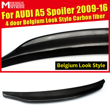 Carbon Rear Trunk Boot Lip Spoiler For Audi A5 A5Q Coupe standard 4-Door 09-16 A5 A5Q Carcatere Look Style Boot Lip wing Spoiler цена в Москве и Питере
