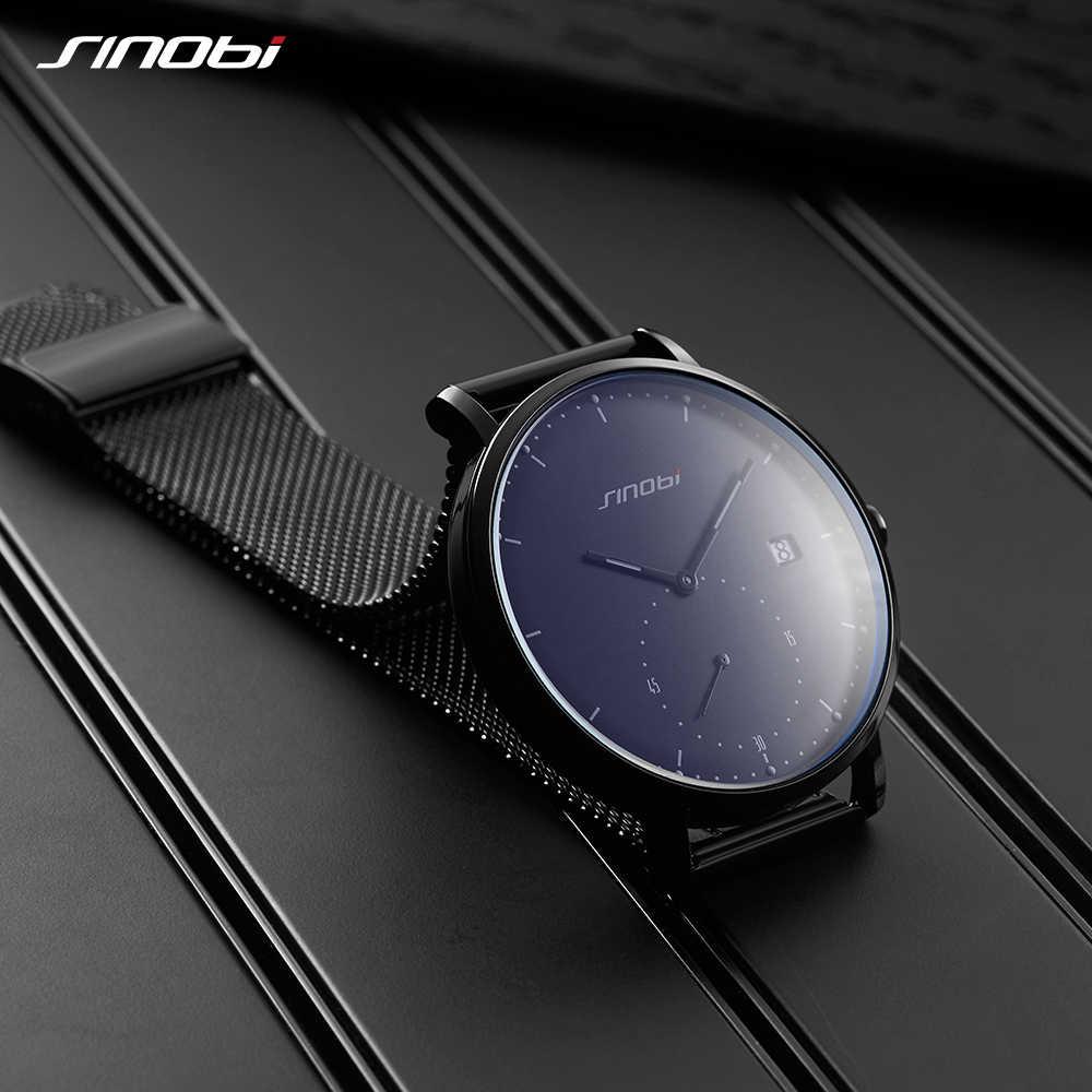 Sinobi Pria Jam Tangan Top Brand Mewah Kuarsa Tahan Air Jam Tangan Luminous Pointer Gerakan Jepang Jenewa Clock Relogio Masculino