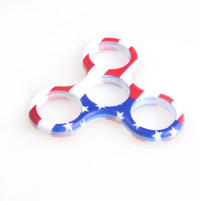 America Flag Cololfull hand spinner case printing Frame For Autism and ADHD fidget spinner Funny Stop Stress spinner(China)