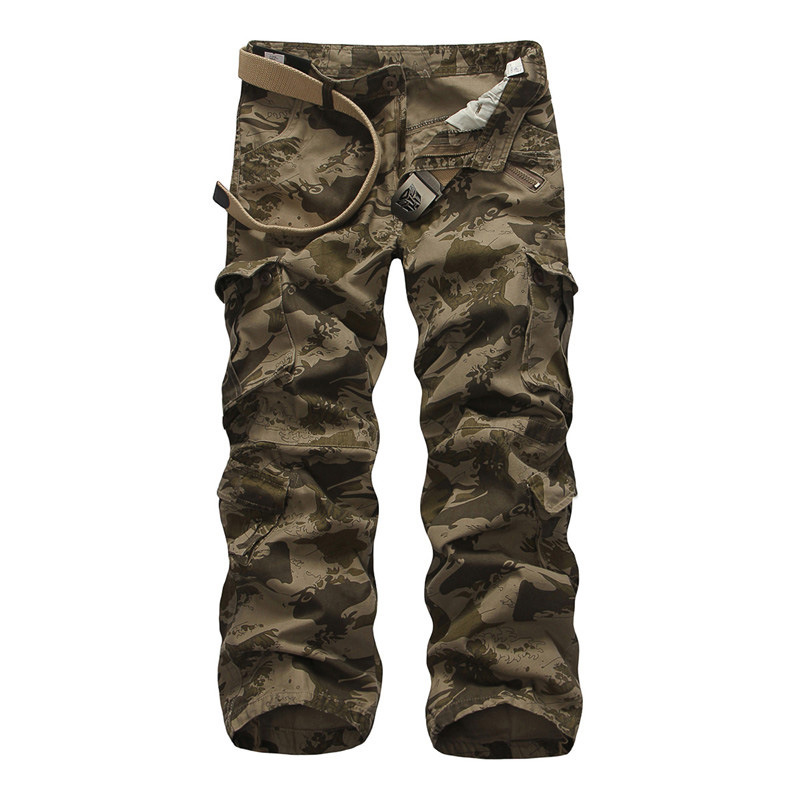 New Cargo Camouflage Multi Pockets Men s Casual Pants Loose Plus Size Overalls Special Tactical Spring