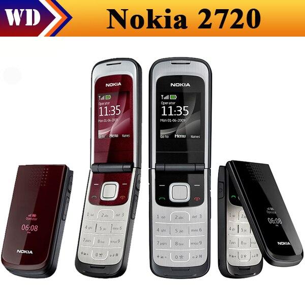Цена за Разблокирована Оригинал 2720 Nokia Mobile Телефон с Оригинальный Экран Bluetooth FM восстановленное бесплатная доставка