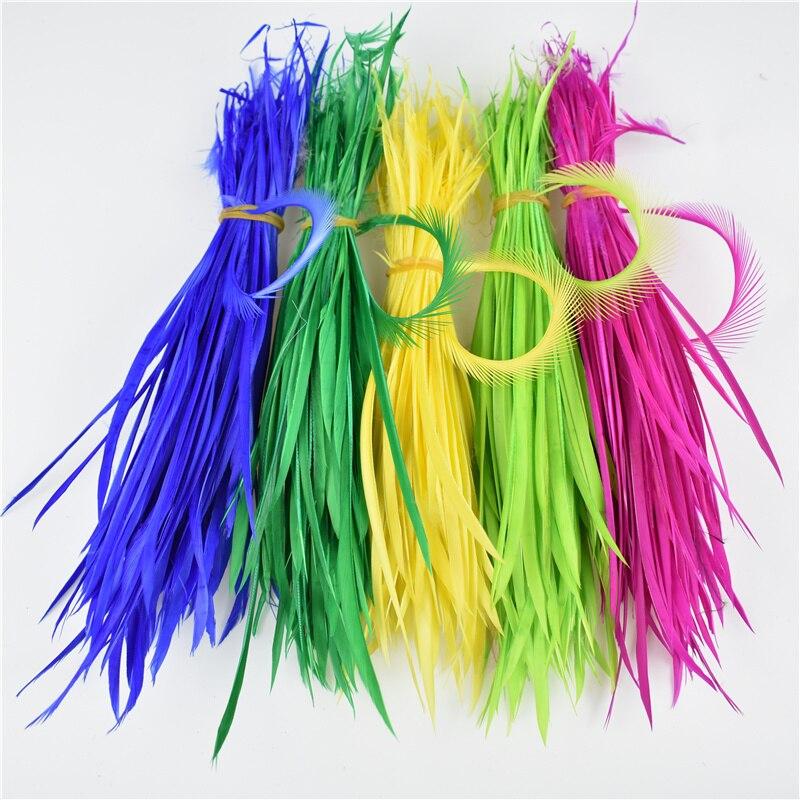 """Plumas de ganso naturales teñidas para manualidades 5-7 """"/13-18cm plumas para joyería plumas de decoración de boda al por mayor"""
