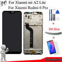 """5.84 """"AAA qualité LCD + cadre pour Xiao mi mi A2 Lite écran LCD + écran tactile numériseur assemblée pour Xiao mi rouge mi 6 Pro LCD remplacer"""