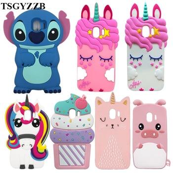 цена на For Samsung Galaxy J2 Pro 2018 Case For Samsung J2 Pro 2018 J250F Case Silicon Soft 3D Cute Cartoon Phone Cover J2 Pro J250 2018