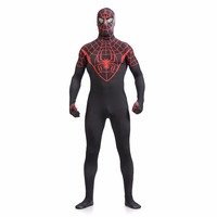Black Red Zentai Spiderman Costume Adult Lycra Spandex Spider Man Cosplay Suit Superhero Homecoming Costume For
