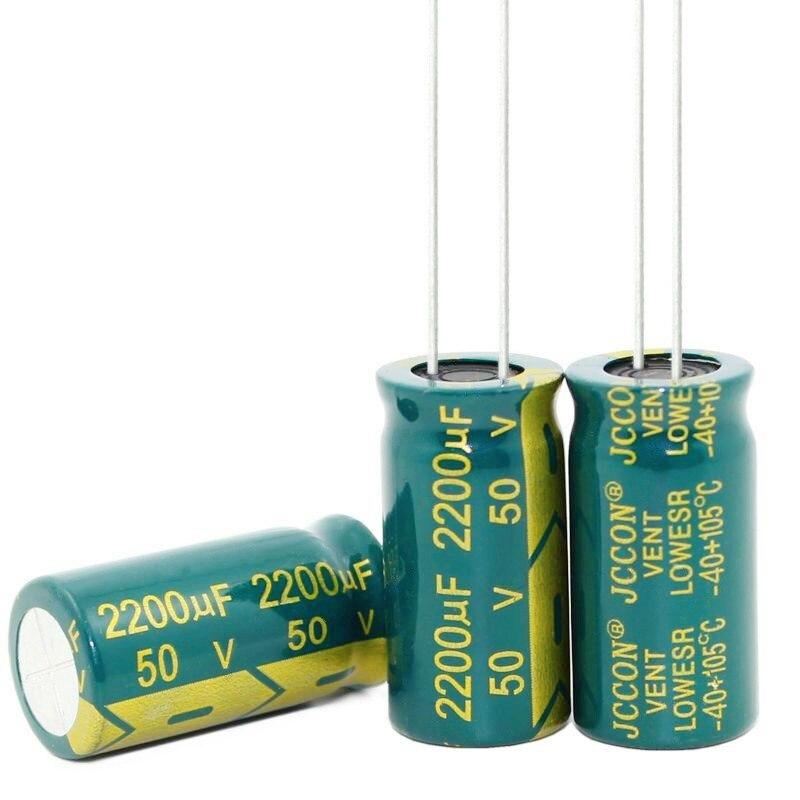 Nueva 47UF 68UF 2200UF 3300UF 450V 400V 50V 16V 16*25MM 16 MM * 30MM de alta frecuencia de baja impedancia condensador electrolítico de aluminio