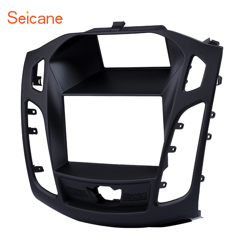 Seicane 2 DIN 173 98mm black Car FM Radio Fascia for 2011 2012 2013 Ford Focus