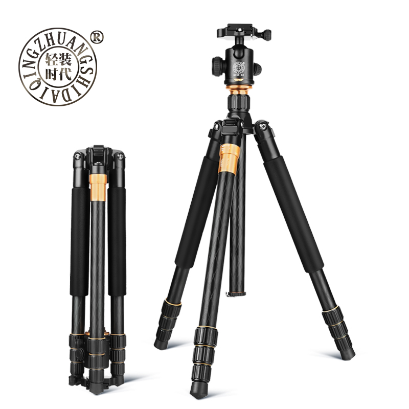 DHL Free Shipping Portable Magnesium Aluminium Alloy Tripod Monopod+Ball Head+Pocket Kit Q999 For Canon Eos Nikon D DSLR camera dhl free 2017 new professional tripod qzsd q999 aluminium alloy camera video tripod monopod for canon nikon sony dslr cameras