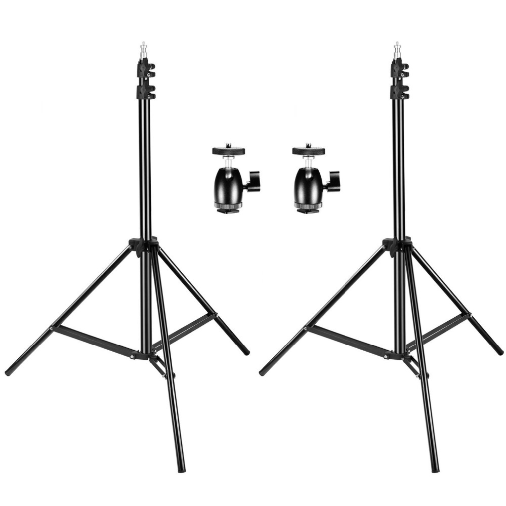 Neewer 2 Packs Adjustable Light Stands with 2 Pieces 1/4-inch Screw Tripod Mini Ball Head Hot Shoe Adapters for HTC Vive VR hot sale mini basketball hoop with ball 18 inch x12 inch shatterproof backboard