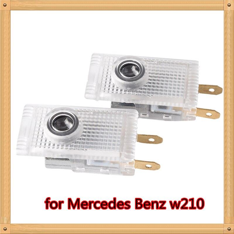 2pcs For Mercedes Benz W210 E200 E230 E240 E55 Sprinter Viano Vito Car Door Courtesy Lights Laser Projector Logo LED