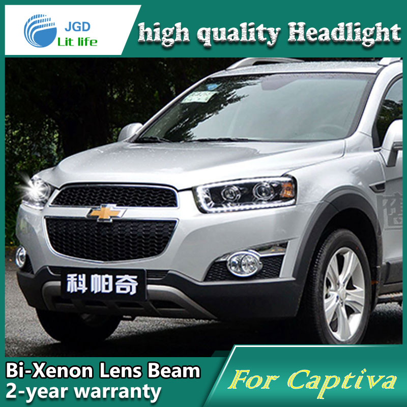 купить Car Styling Head Lamp case for Chevrolet Captiva Headlights LED Headlight DRL Lens Double Beam Bi-Xenon HID Accessories по цене 41342.48 рублей