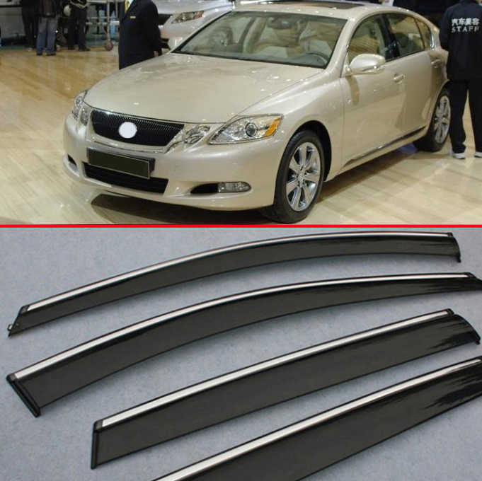 Out-Channel Window 2mm Visor Rain Guard Sunroof 5pcs For Lexus GS300 GS430 06-11