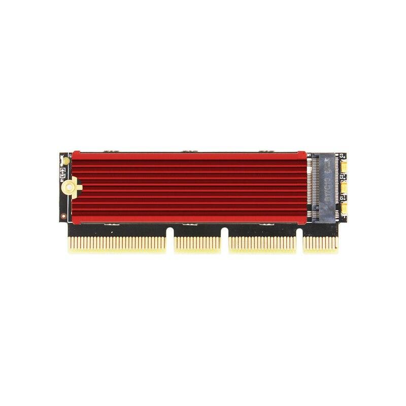 JEYI MX16-1U M.2 NVMe SSD NGFF To PCI-E 3.0 M Key Interface Card X4 X8 X16 Adapter Support PCI Express 2230-2280 M.2 Full Speed