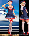 Sexy Costums Of Woman Sailor Costume Women Halloween Dress Cosplay Navy Uniform Royal Blue Disfraces Adultos Sexy Costumes CE510