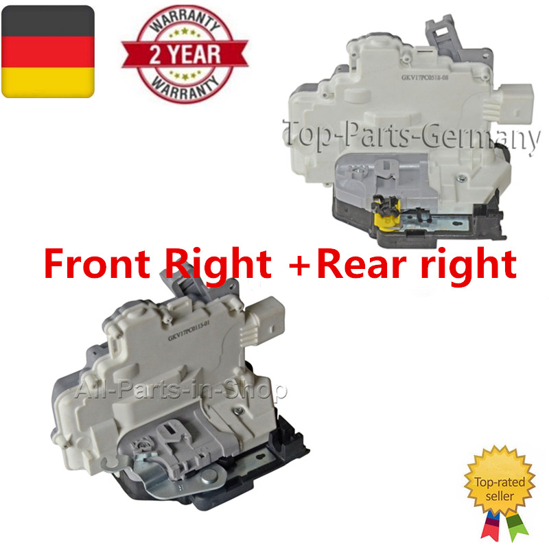AP01 Pair Door Lock Actuator LHD Front Right +Rear Right For VW EOS Skoda Superb Seat Altea 1P1837016  1P0839016
