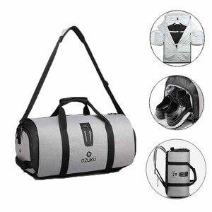 Image 1 - OZUKO 9209 Men Travel Garment Bag Women Duffel Bag Hanging Suitcase Clothing Business Backpack Bag Multiple Pockets
