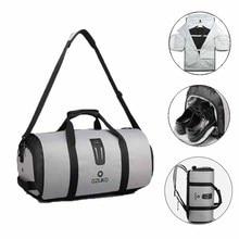 OZUKO 9209 erkekler seyahat giysi çantası kadın Duffel çantası asılı bavul giyim iş sırt çantası çanta birden çok cepler