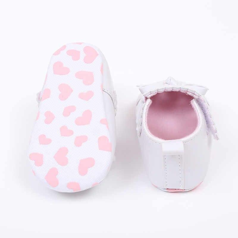 Обувь для новорожденных; милые мягкие детские туфли с бантом для маленьких девочек; нескользящие кроссовки; обувь для девочек