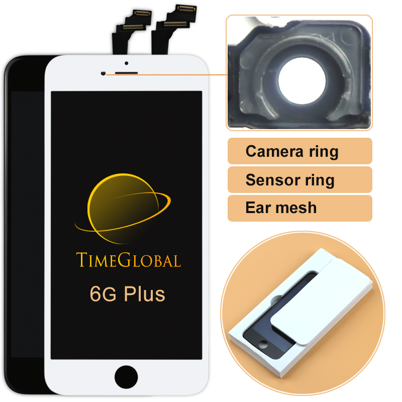 Prix pour 50 pcs 100% nouveau pas de dead pixel alibaba chine pantalla pour iphone 6 plus avec écran tactile digitizer remplacement livraison gratuite