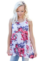 Yuerlian Women Floral Tassel Tanks Top Pompom Lace Trim Flowy Sleeveless Summer Vest Lady O Neck