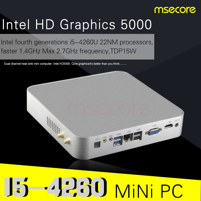 Intel Core i5 4260U Mini PC Desktop Computer Windows 10 NUC TV Box barebone system Nettop