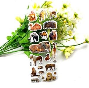 Image 3 - 10枚3D動物ステッカーのおもちゃ子供のためのスクラップブック電話ラップトップギフト動物虎ライオン恐竜ステッカーyyy gyh