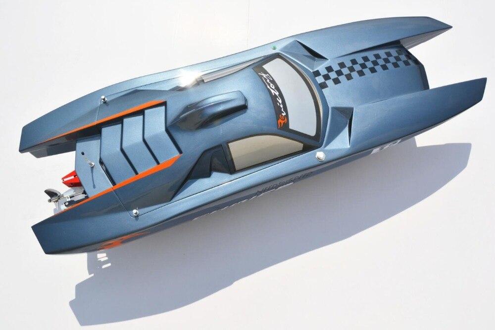 Fast Speed DT E53 Reventon Catamaran Fiberglass Electric Brushless RC Boat w/ Dual 4082 Motor & Hobbywing 120A ESC/ 9KG Servo h625 pnp spike fiber glass electric racing speed boat deep vee rc boat w 3350kv brushless motor 90a esc servo green