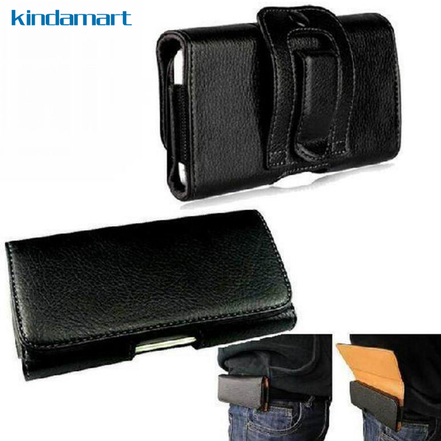8e7d69bbfea Clip de cinturón funda para iPhone 8 7 6 manga bolsa funda cintura llevar  cuero caso