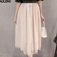 Make Han Edition Lace In White Gauze Skirt Joining Together In A Word Skirt Skirt Backing