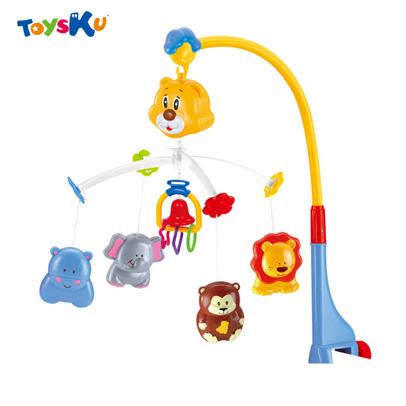 ФОТО 2016New Hot Baby Mobile Crib Hanging Bell Voice Control Musical Bed Ring Rattle Educational Toy Cute Cartoon Animals