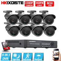 8CH 1080P HDMI DVR 1080P HD Indoor Outdoor Security Camera System 8 Channel CCTV DVR Kit
