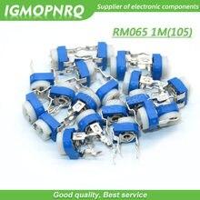 20 pçs trimmer potenciômetro rm065 RM-065 1 m ohm 105 dip trimmer resistores ajustáveis variáveis