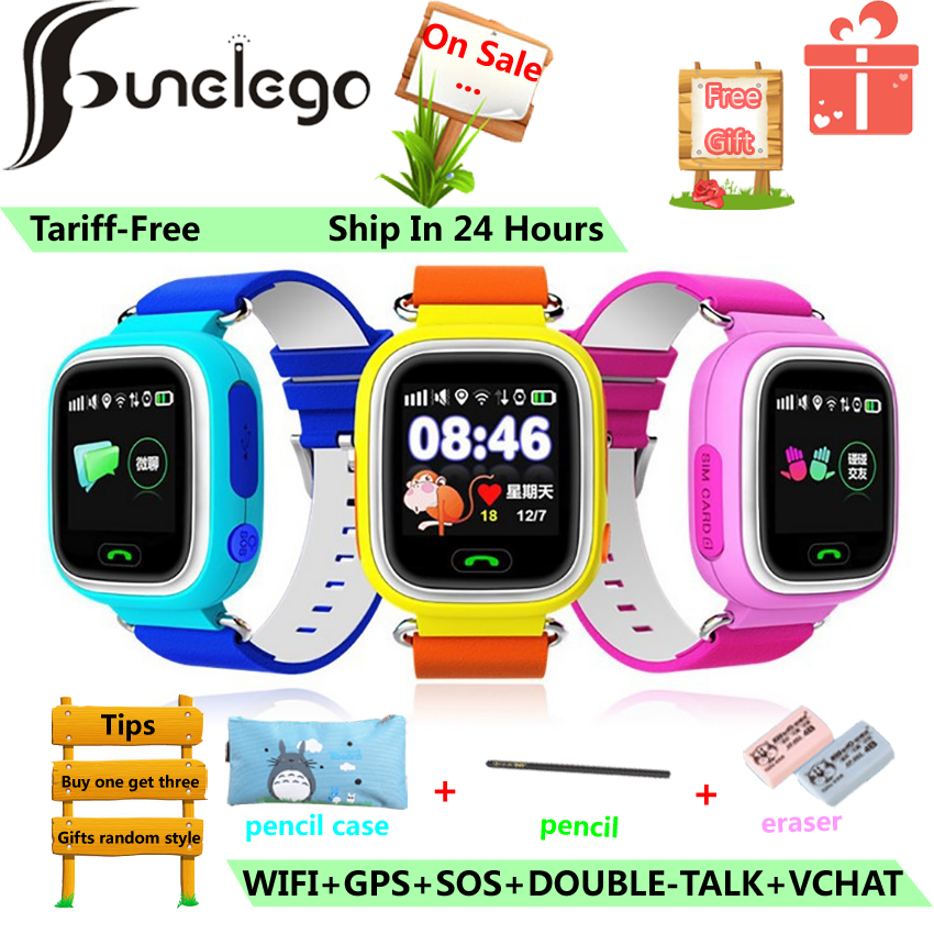 Funelego <font><b>GPS</b></font> <font><b>Q90</b></font> Phone Watch for kids Color Touch Screen WIFI Positioning SOS Call Smart Baby Watch PK Q528 Q50 Q80 image