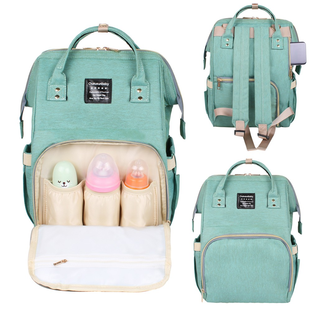 Large Capacity Diaper Bag Backpack Baby Diaper Bags For Mommy Bag Maternity Backpack For Fashion Women Travel Solid Cartoon