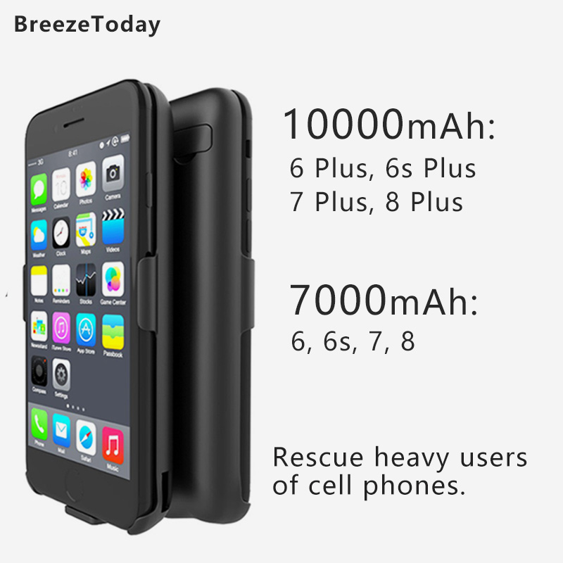 10000 7000mAh Battery Charger Case Battery Case For IPhone 6 6 Plus 6s 6s Plus 7 7 Plus 8 8 Plus Power Bank чехол аккумулятор