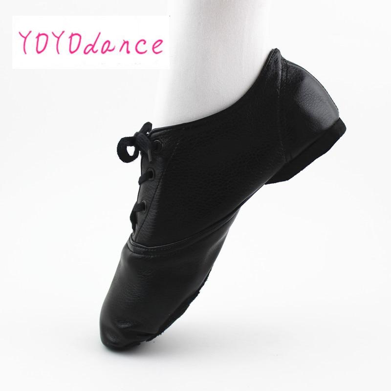 28-45 gran venta de zapatos de Jazz para niños zapatos de baile de mujer de diseño de zapatos de Ballet con cordones suaves para mujer