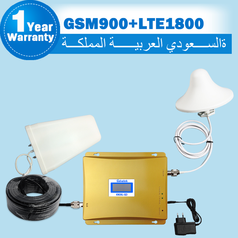Saudi Arabia LCD Display GSM 900mhz 4G LTE 1800mhz Dual Band Mobile Phone Signal Booster GSM DCS 65dB Cell Amplifier Repeater