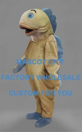 Adulte carnaval mascotte bleu aileron poisson mascotte Costume personnage de bande dessinée Costume Costume fantaisie robe Performance vêtements SW832
