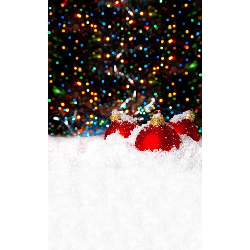 Custom vinyl cloth Christmas red bell fantasy bokeh backgrounds for children family portrait photography studio backdrops new arrival 5 8ft vinyl christmas tree background 3723 children photography studio backgrounds newborn photography backdrops