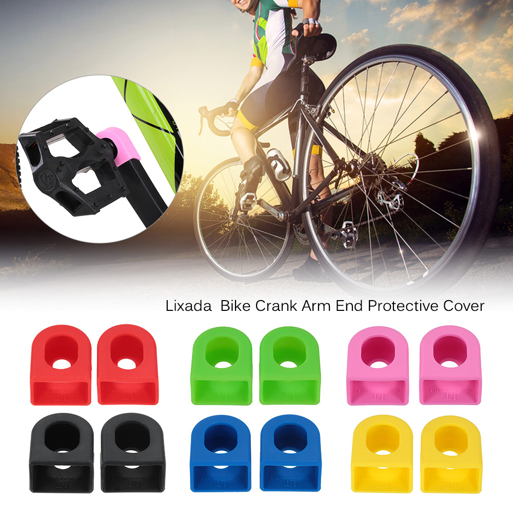 1 Pair Bike Crank Arm End Crank Set Silicone Cover Cap for Road MTB Bike Bicycle