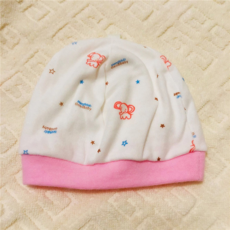 Newborn Baby Cap 0 1 Month Boys Girls Cheap infant Hat Handmade Cotton Toddler Head Single layer Windproof Caps Wholesale Hats in Hats Caps from Mother Kids