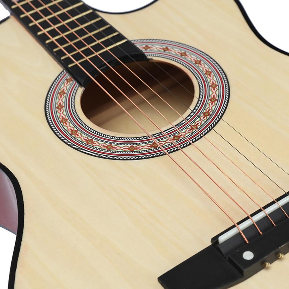 38 tums saknad vinkel ballad trägitarr nybörjare övning musik - Skola och pedagogiska förnödenheter - Foto 2
