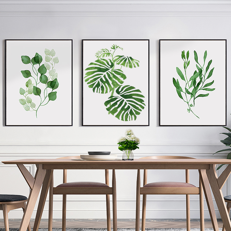 Beau Aliexpress.com : Buy Canvas Painting Wall Art Watercolor Tropical Leaf  Canvas Art Print Poster, Wall Pictures For Home Decoration, Giclee Wall  Decor From ...