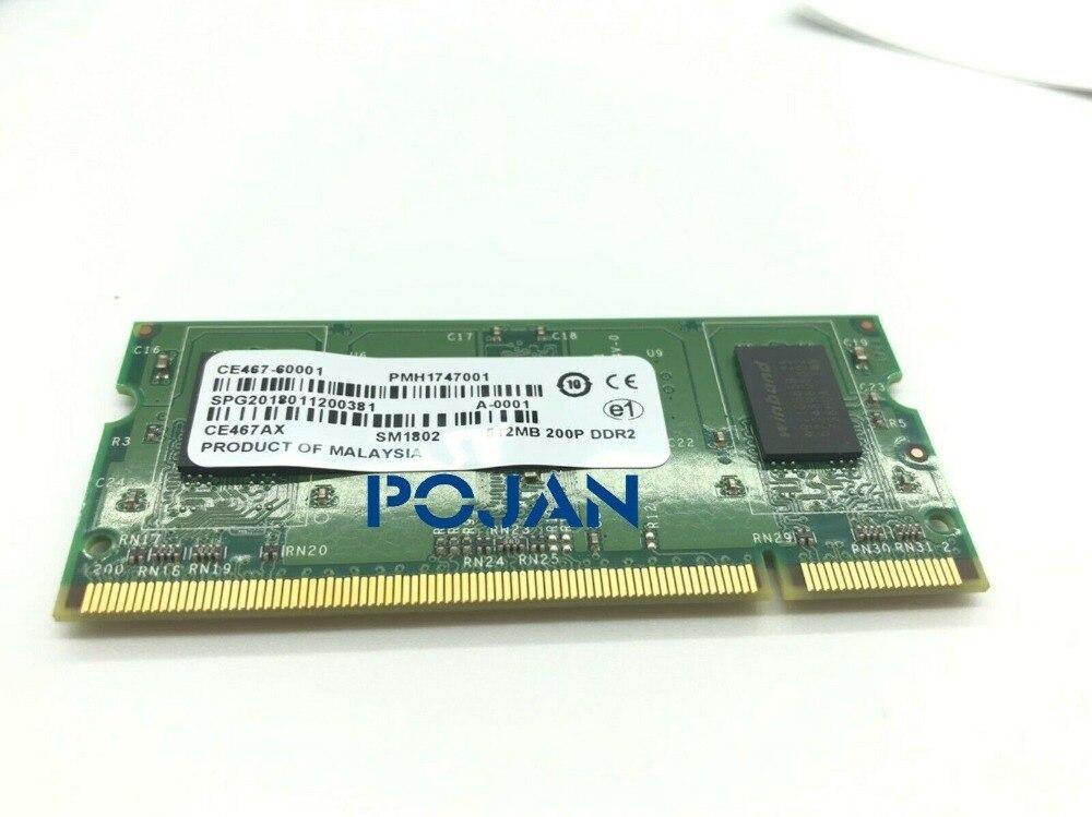 CC493-67905 512 mo 200 broches DDR2 SODIMM x64 module de mémoire couleur Laserjet CP4525 4025 POJAN