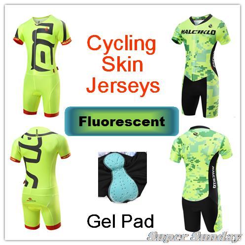 Combinaisons de peau fluorescentes Ironman maillots de peau de cyclisme vélo combinaison complète combinaison de patinage pour hommes collants de cyclisme livraison gratuite
