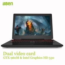 Bben 15.6inch gaming laptop notebook computer 8GB DDR4 128GB SSD 1TB HDD  i7-6700HQ quad cores wifi windows10 ultrabook