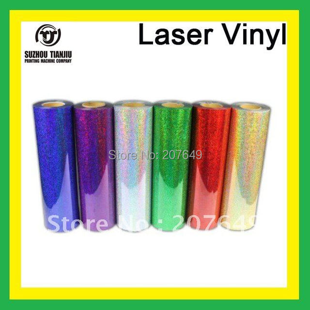 "TJ High-Quality Laser heat transfer vinyl for t shirts width is 0.5meter(20"") order one meter"